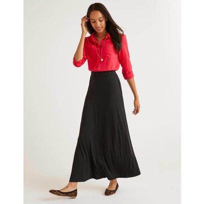 Jersey Maxi Skirt Black Women Boden, Black