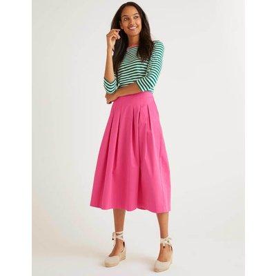 Theodora Pleated Skirt Pink Women Boden, Camel