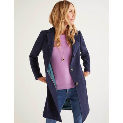 Stanhope Coat Navy Women Boden, Navy