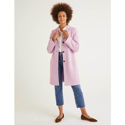 Stanhope Coat Purple Women Boden, Pink