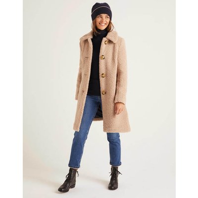 Cowell Teddy Coat Natural Women Boden, Natural
