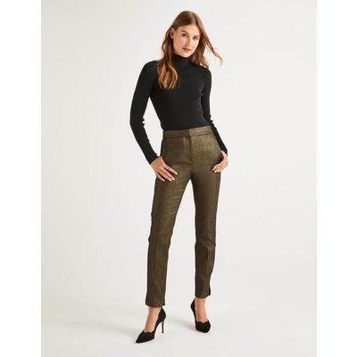 Belgravia 7/8 Trousers Gold Women Boden, Gold