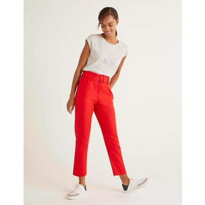 Holkham Belted Trousers Red Women Boden, Red