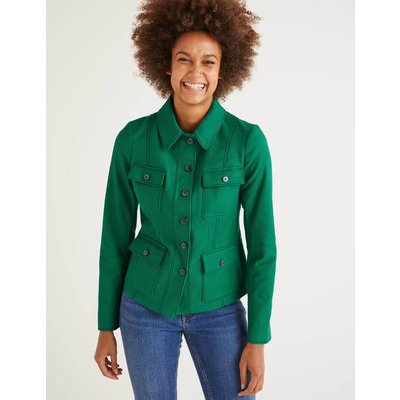 Wheatley Topstitch Jacket Green Women Boden, Green