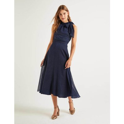 Brooke Devore Dress Navy Women Boden, Navy