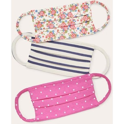 Non-medical Face Coverings 3pk Ivory/Tickled Pink Floral Boden, Ivory/Tickled Pink Floral
