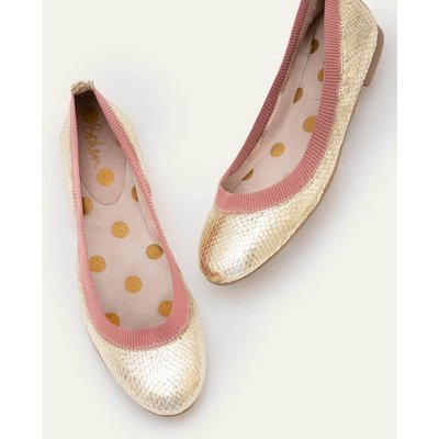 Hettie Flexi Ballerinas Gold Women Boden, Gold