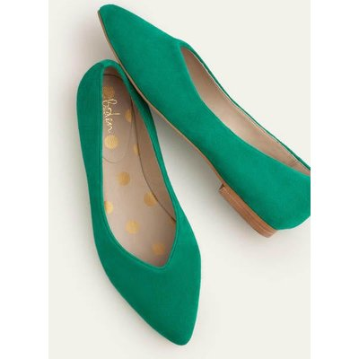 Julia Pointed Flats Green Boden, Green