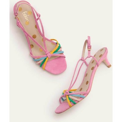 Tessa Kitten Heel Slingbacks Pink Women Boden, Multicouloured