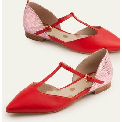 Sienna T-Bar Flats Red Women Boden, Red