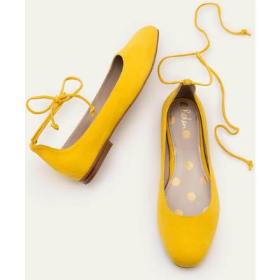 Effie Ballet Flats Yellow Women Boden, Yellow