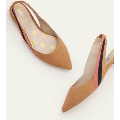 Louisa Flat Slingbacks Brown Women Boden, Camel