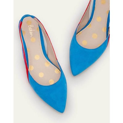 Louisa Flat Slingbacks Blue Women Boden, Blue