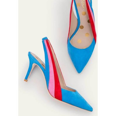 Louisa Slingbacks Blue Women Boden, Blue