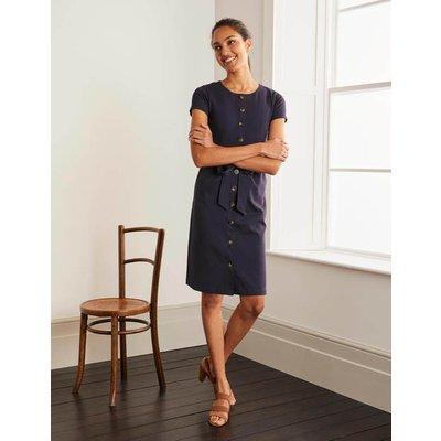 Beatrice Ponte Shift Dress Navy Women Boden, Navy