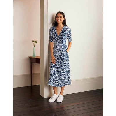 Jane Jersey Midi Dress Blue Women Boden, Blue