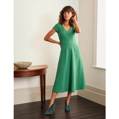 Belle V-neck Ottoman Dress Green Women Boden, Green