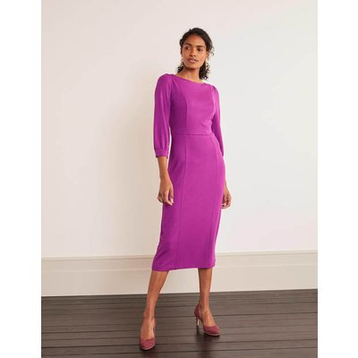 Colette Ponte Dress Purple Women Boden, Purple
