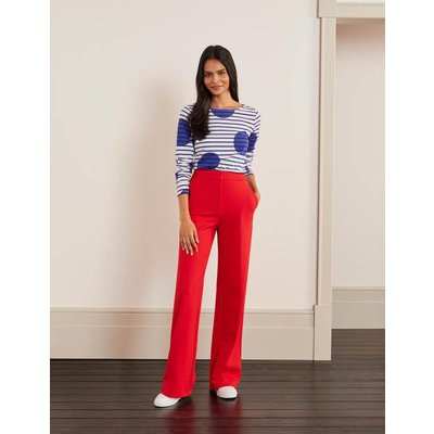 Hampshire Ponte Trousers Red Women Boden, Red