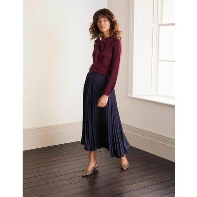 Kristen Pleated Skirt Navy Women Boden, Navy