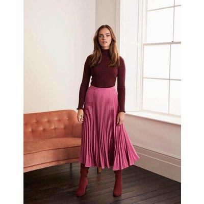 Kristen Pleated Skirt Pink Women Boden, Pink