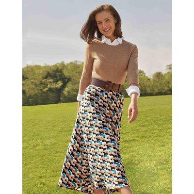 Stackpole Midi Skirt Navy Women Boden, Navy