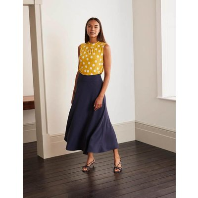 Stackpole Midi Skirt Navy Women Boden, Navy