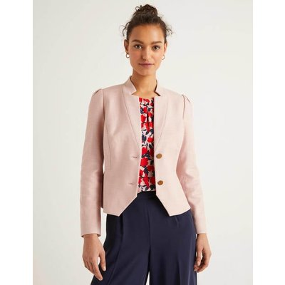 Woodville Textured Jacket Pink Women Boden, Pink