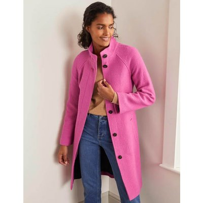 Cartwright Coat Pink Christmas Boden, Pink