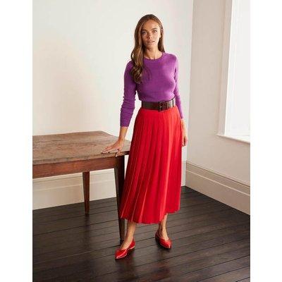 Musgrove Pleated Skirt Red Women Boden, Red