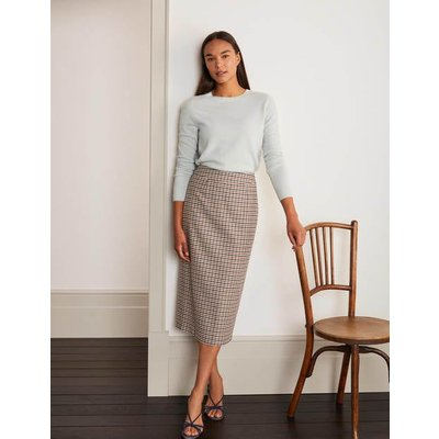 Carbury Pencil Skirt Multi Women Boden, Camel