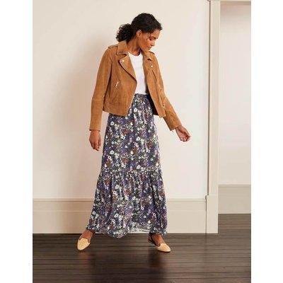 Ashburnham Maxi Skirt Grey Women Boden, Metallic