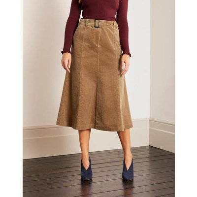 Everdene Midi Skirt Brown Women Boden, Camel