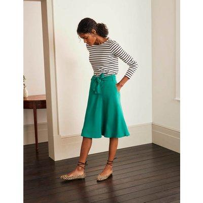Morland Belted Skirt Green Women Boden, Green
