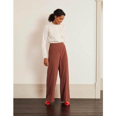 Kintore Wide Leg Trousers Brown Women Boden, Red