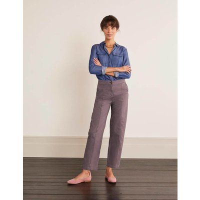 Rothes Seam Detail Trousers Grey Women Boden, Metallic