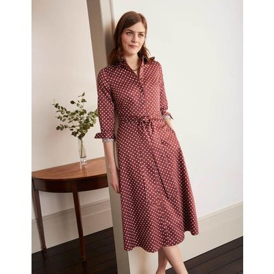 Isodora Midi Shirt Dress Brown Women Boden, Brown
