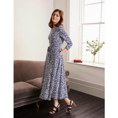 Adora Midi Dress Blue Women Boden, Blue