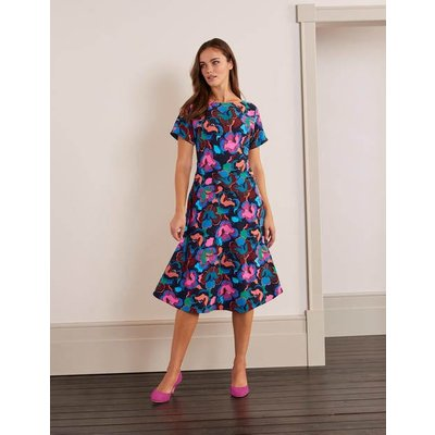 Cynthia Dress Navy, Chelsea Bloom Women Boden, Navy, Chelsea Bloom