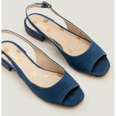 Ivy Low Heel Slingbacks Blue Women Boden, Blue