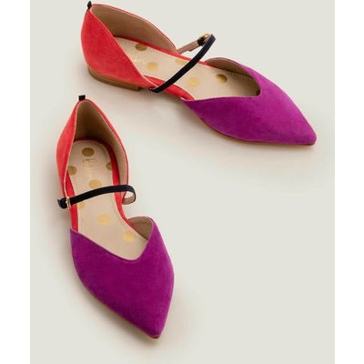 Maisy Pointed Flats Jewel/ Pop Peony Women Boden, Pink