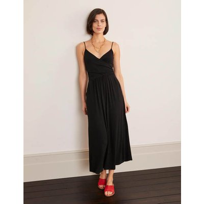 Hope Jersey Midi Dress Black Women Boden, Black