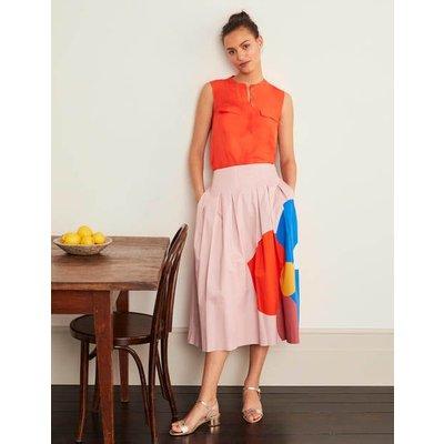 Theodora Pleated Skirt Pink Women Boden, Pink