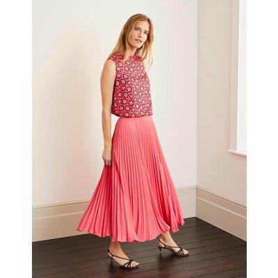 Kristen Pleated Skirt Pink Women Boden, Camel
