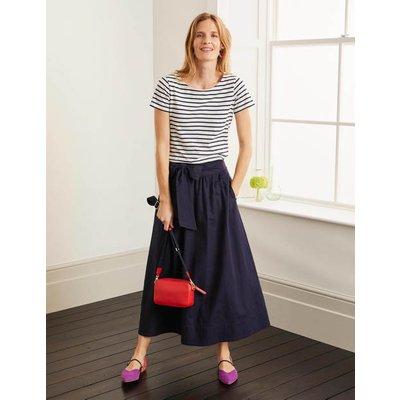 Demelza Midi Skirt Navy Women Boden, Navy