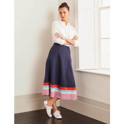 Willa Button Midi Skirt Navy Women Boden, Navy