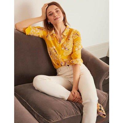 The Silk Shirt Yellow Women Boden, Yellow