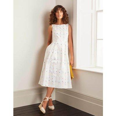 Philomina Dress White Women Boden, Multicouloured