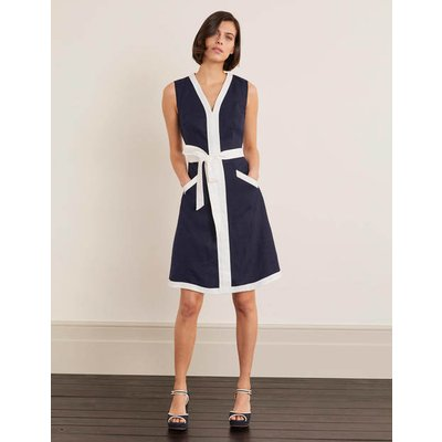 Josie Belted Dress Navy Women Boden, Navy