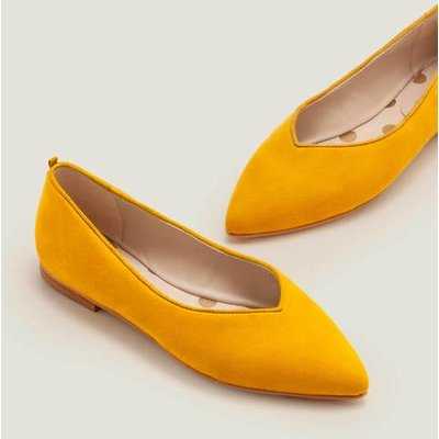 Julia Pointed Flats Yellow Women Boden, Yellow